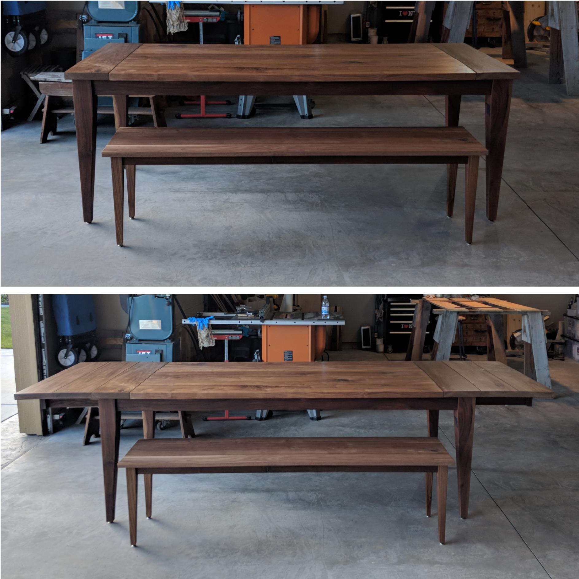 Charmant Expanding Ohana Table + Bench